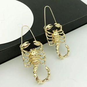 Gold Dangle Scorpion Earrings